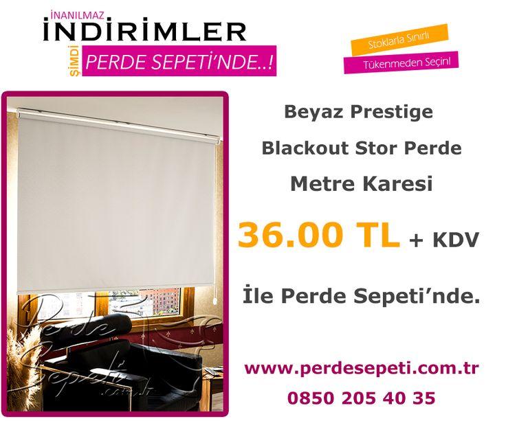 Beyaz Prestige Blackout Stor Perde Metre Karesi 36.00 TL + KDV İle Perde Sepeti' nde! Sipariş Vermek İçin Linki Tıklayın -> http://bit.ly/1OuiToZ