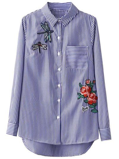 GET $50 NOW | Join Zaful: Get YOUR $50 NOW!http://m.zaful.com/high-low-striped-dragonfly-embroidered-shirt-p_230157.html?seid=1492659zf230157