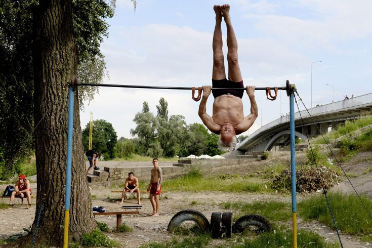 Kachalka outdoor gym in Kiev