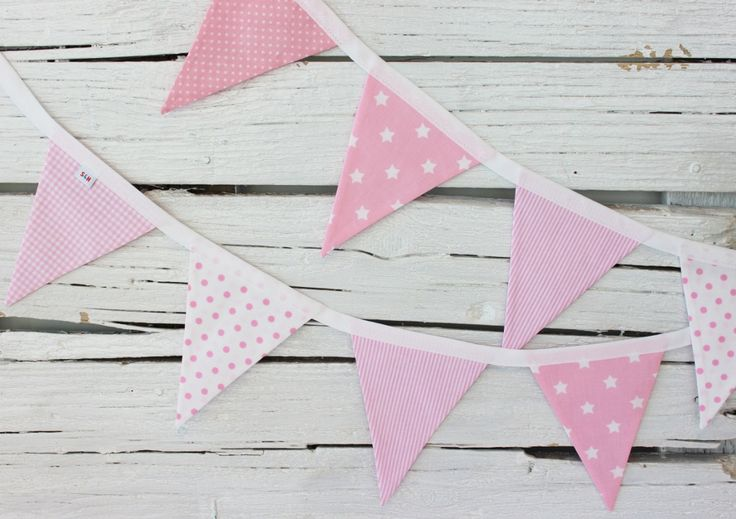 Soft Pink Flags