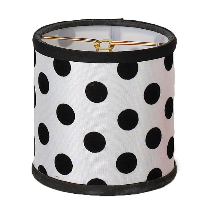 4 Quot Black And White Polka Dot Chandelier Shade