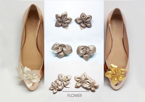 shoe clips with eco leather flowers  https://www.facebook.com/coquet.art