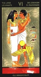 Carta del tarot de Nefertitis