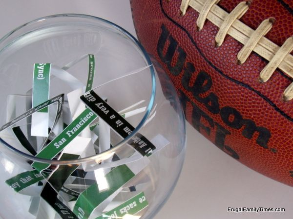 Frugal Family Times: A Super Bowl Party Game Even Non-Fans Will Enjoy: 2014 Edition