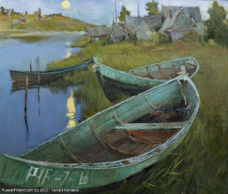 http://www.russianfineart.com/catalog/prod?productid=26092 Moon Rise oil canvas  Russian Artist Tamara Kamaeva