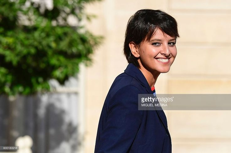 French Education minister Najat Vallaud-Belkacem leaves after a cabinet meeting…