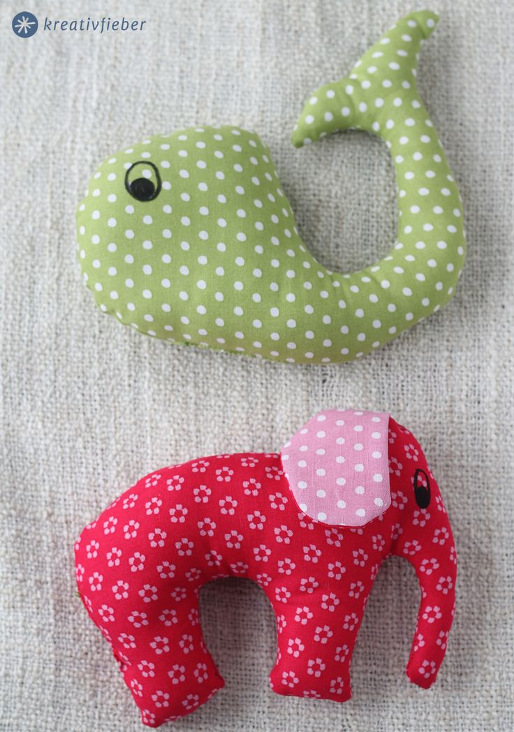 diy tutorial: baby rattles / toy animals / stofftiere selbernähen