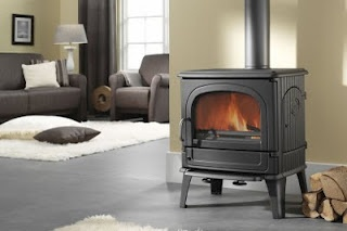 Change the open fire to a log burner??