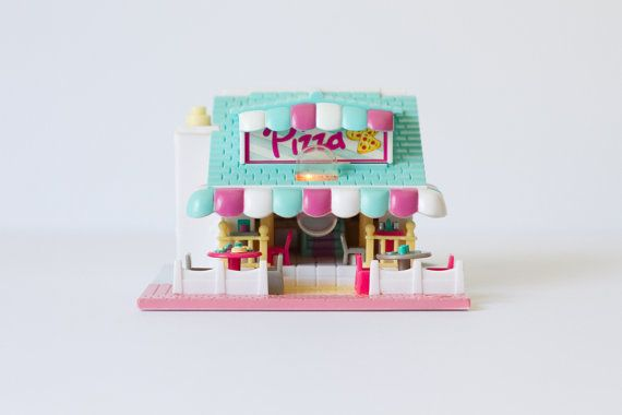 1993 Vintage Polly Pocket  Complete  Pizza by southallsvintage