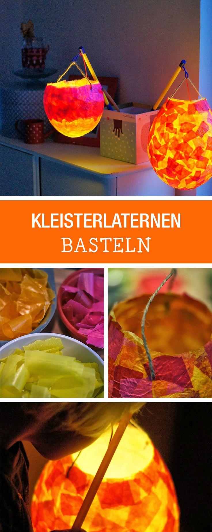 DIY-Anleitung: Kleisterlaternen für herbstlichen Laternenumzug mit Kindern basteln / DIY tutorial: crafting lanterns with kids for autumnal parade via DaWanda.com