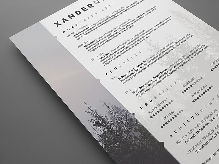 8 Best Images About Resumes On Pinterest | Cool Resumes, Fonts And