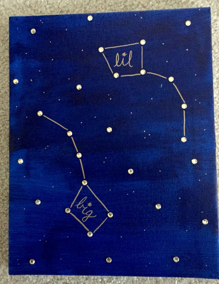 Simple craft for big little week! DIY sorority Big Dipper Little Dipper canvas.