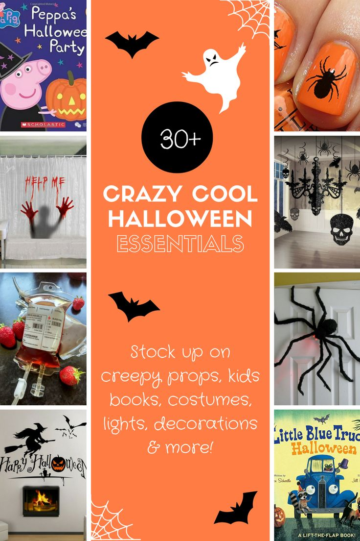 Get your hands on these crazy cool Halloween essentials that include Halloween costumes, Halloween decorations, Halloween books and more!