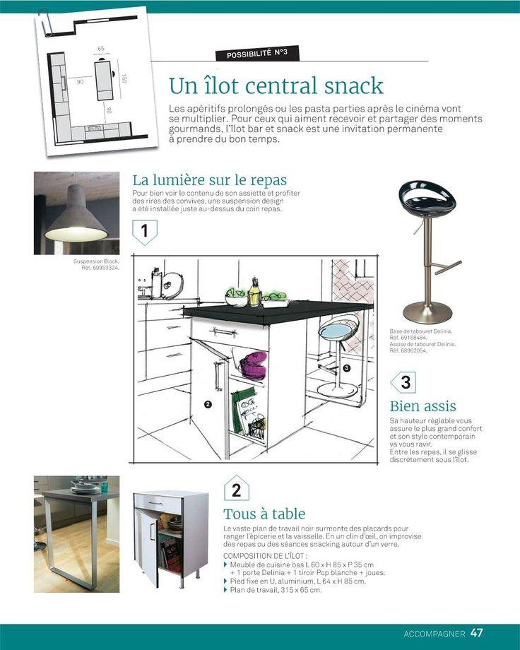 17 Best images about DECO CUISINE on Pinterest Cabinets, Sons and - hauteur entre meuble bas et haut cuisine