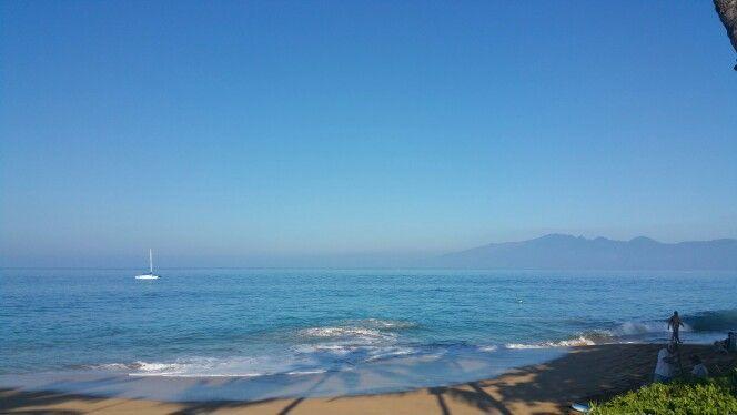 Ka'anapail morning beach walk January 2015