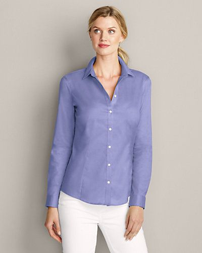 Wrinkle-Free Long-Sleeve Shirt - Solid
