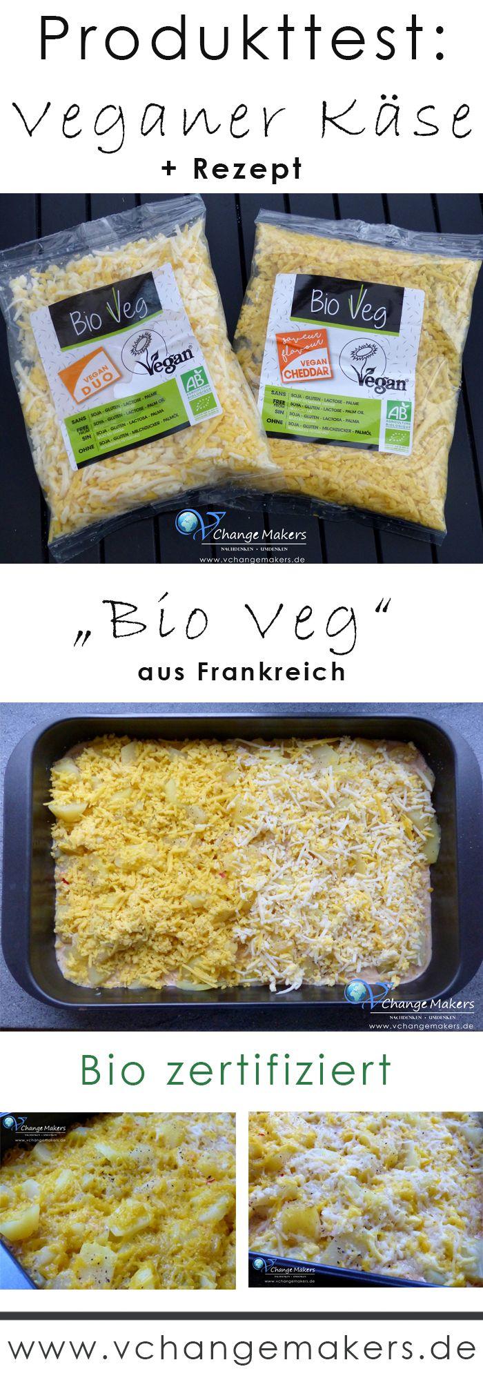 """Produkttest über den neuen veganen Bio Käse """"Bio Veg"""" aus Frankreich. Hervorragende Schmelzfähigkeit! + Rezept für veganes Kartoffelgratin"""
