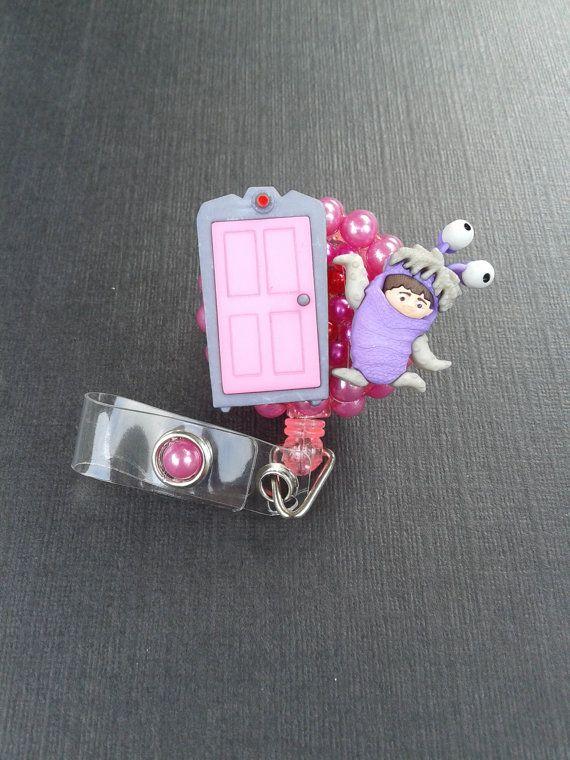 Boo Monsters Inc. ID Badge RN Reel Holder or Pen Holder