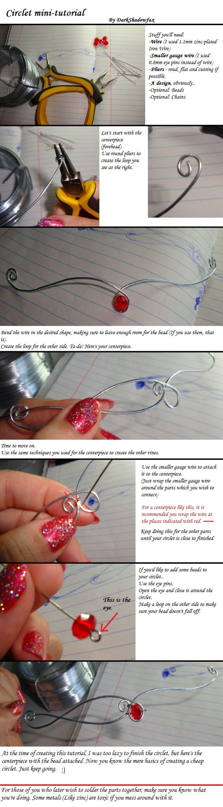 Tutorial de Mini Tiara de Arame