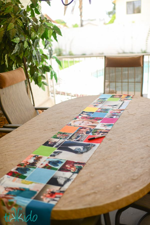 Nikki did a wonderful job putting together this Shutterfly table runner for a #Graduation bash. Follow her on Pinterest at http://www.pinterest.com/tikkido/.