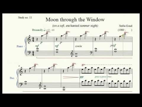 Study no. 11: Moon through the Window - Stella Goud - Piano Studies/Etudes 2