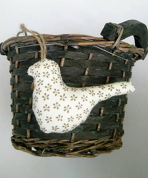 domivecicky / Vianočná šitá dekorácia Vtáčik