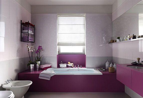сиреневая ванная комната