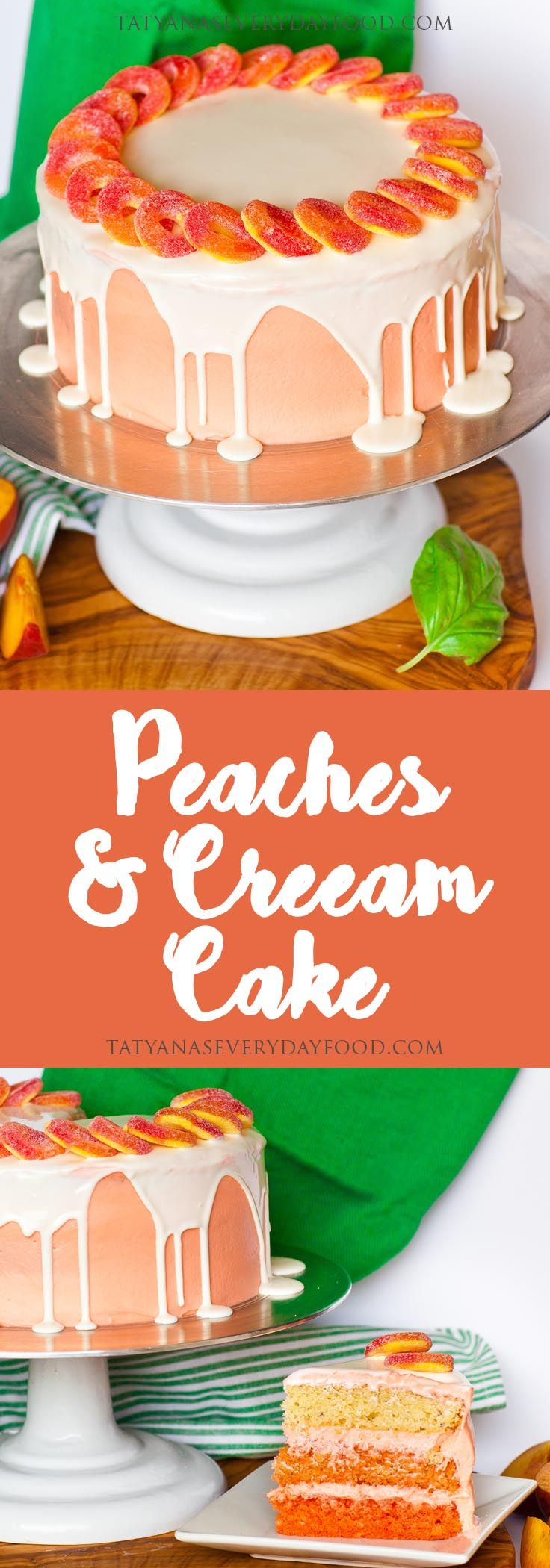 Peaches are the essence of summer and my 'Peaches and Cream Cake' is loaded with peachy-flavor! Not only is this cake gorgeous, it's delicious! This peach cake is loaded with peach flavor, frosted with a creamy cream cheese frosting and each layer is soaked with peach puree. And, cut it open to reveal an ombre […]