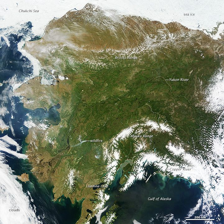 Alaska Major Cities Map%0A On most days  relentless rivers of clouds wash over Alaska  obscuring most  of the