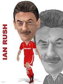 Latest caricature hot of the press, Ian Rush!!!