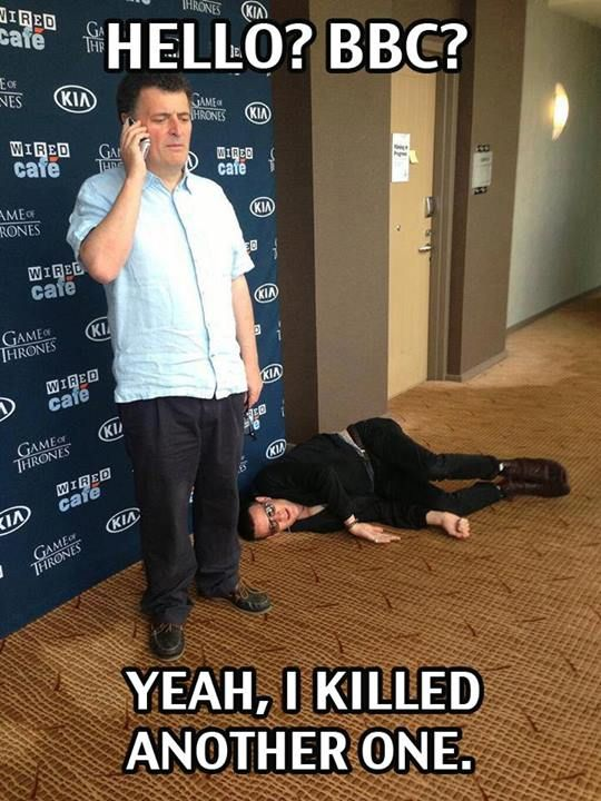 Steven Moffat & Matt Smith.....oh how I hate and love you moffat....Matt…