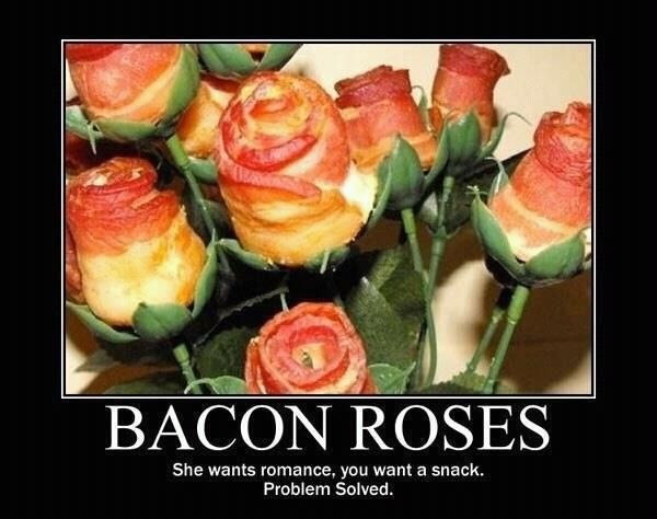 Bacon Roses...: Baconros, Idea, True Love, Valentines Gifts, Valentinesday, Flowers, Bacon Bouquets, Bacon Rose, Valentines Day Gifts
