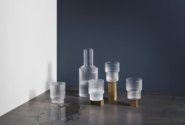FERM Set 4 Glasses Ripple | Klevering