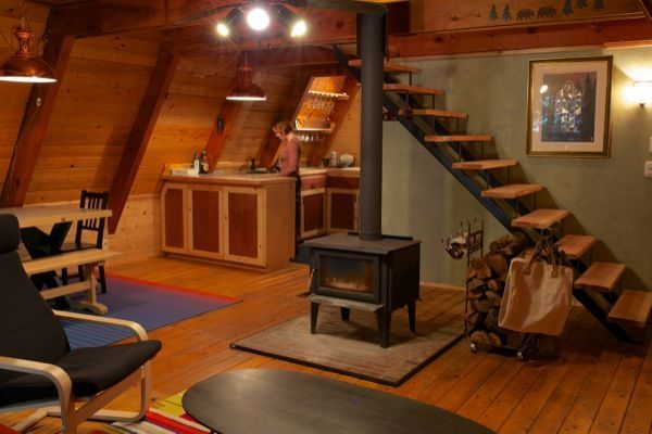 Loft access in an a cabin sleeping lofts loft stairs for A frame cabin with loft plans
