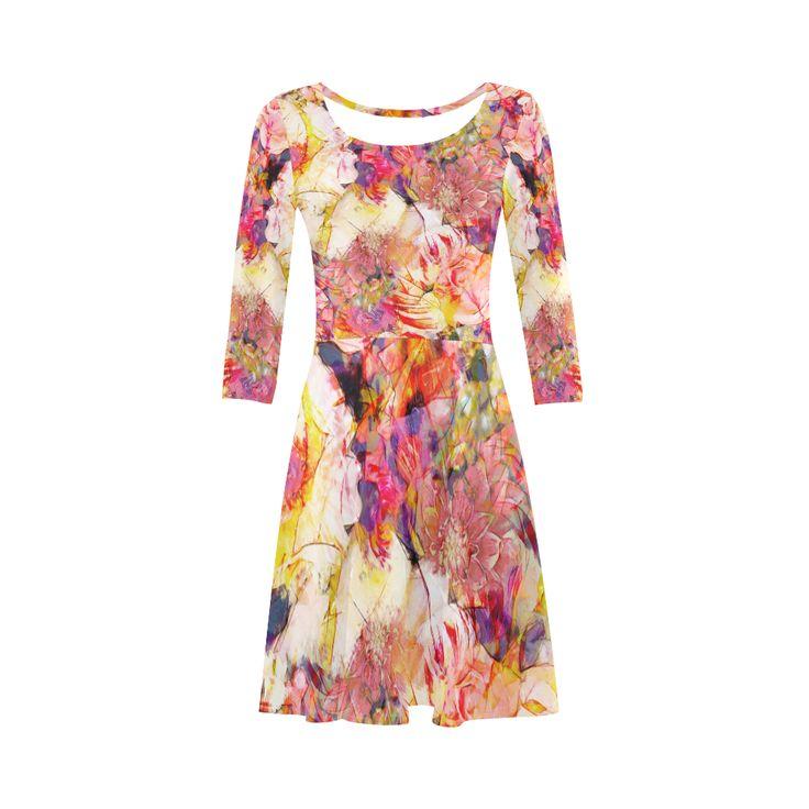 flora 5 3/4 Sleeve Sundress (D23) #dress