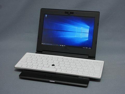 【Hothotレビュー】キングジム 「ポータブック XMC10」 ~開閉型キーボード搭載のコンパクトWindows 10ノート - PC Watch