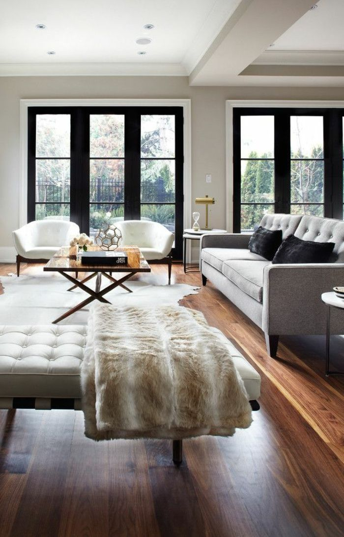 les 25 meilleures id es de la cat gorie parquet salon sur pinterest parquet chevrons maison. Black Bedroom Furniture Sets. Home Design Ideas