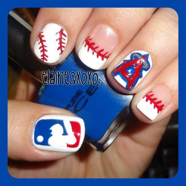 37 Best Baseball Nail Art Images On Pinterest Baseball Nail Art