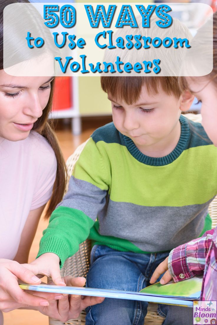 To help cope with your never-ending work load, try utilizing a classroom volunteer to help lend a hand!