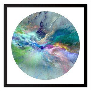 Flow Press Framed Print