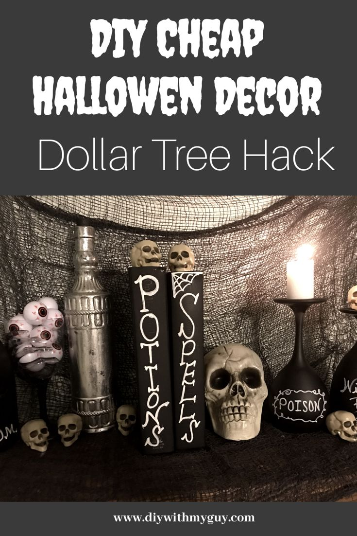 DIY Cheap Halloween Decor Dollar Tree Hack DIY With My