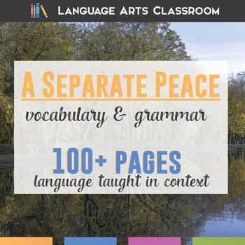 A Separate Peace, by John Knowles, is full of detailed and strong sentences - perfect to use as mentor sentences. This bundle covers vocabulary and grammar lesson plans.
