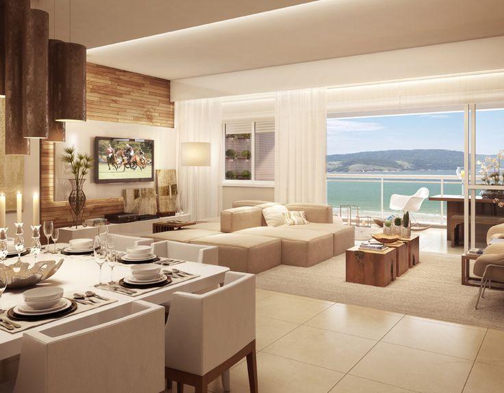Living Ampliado Do Apartamento De 133 66 M Residencial