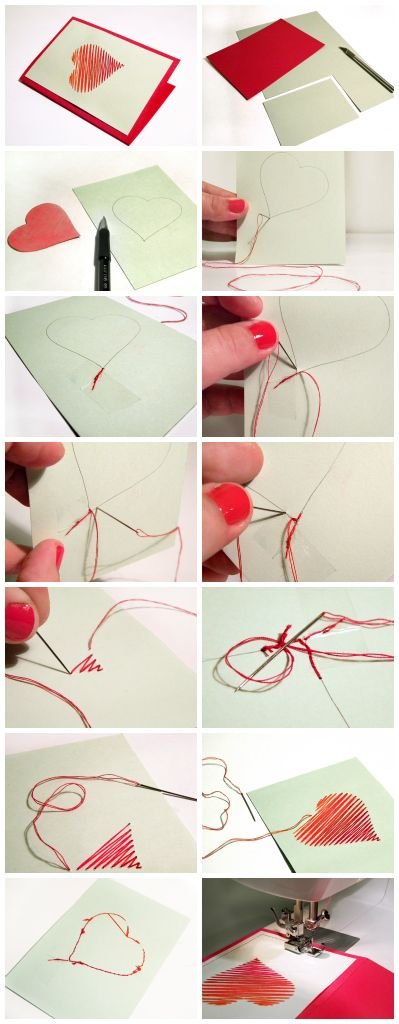 How to make a hand-stitched Valentine's Day card via craft.tutsplus.com.