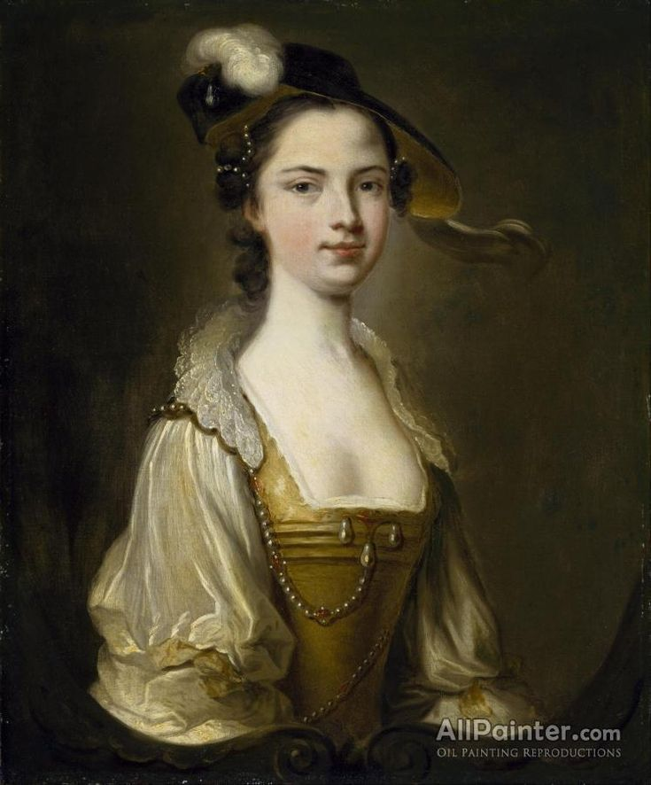Thomas Hudson,Portrait Of A Lady Iii oil painting reproductions for sale