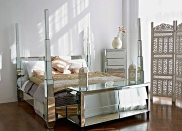 Vintage Hollywood Furniture | Old Hollywood Mirrored Bedroom Furniture  Contemporary