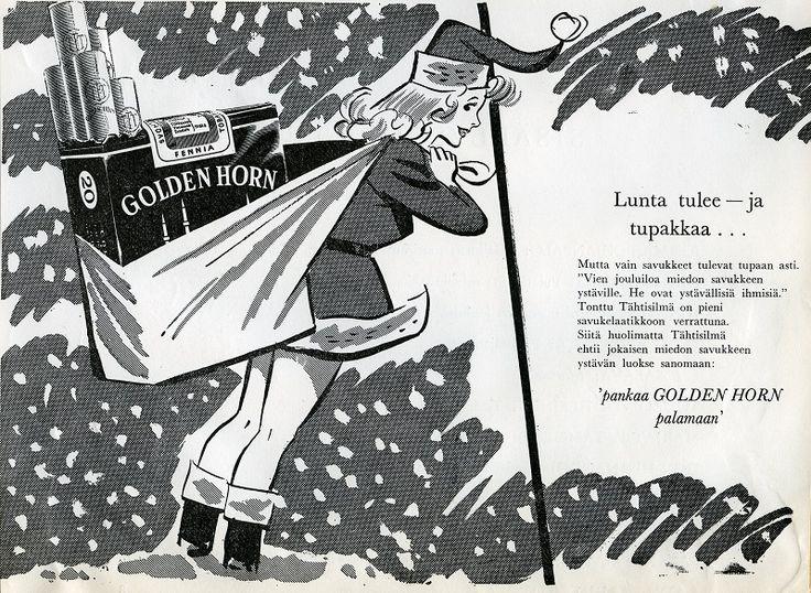 Golden Horn #savukemainokset #joulu #tupakkamainokset #tontut #naiset