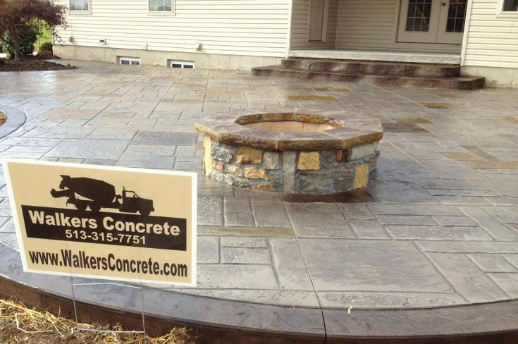 Stamped Concrete Fireplaces : Images about cincinnati fire pits on pinterest