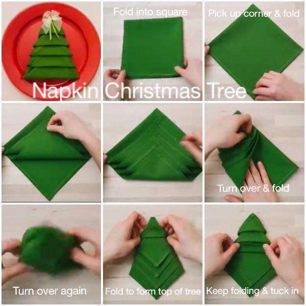 Napkin folding..my favourite time waster!