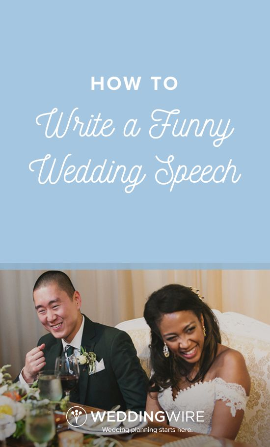 how to write a funny wedding speech